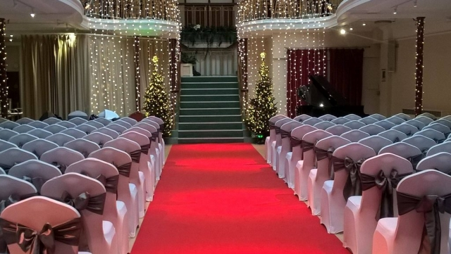 Red aisle carpet for wedding, red carpet for event, ball, award ceremony